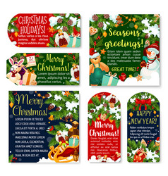 Christmas gift tag winter holidays celebration vector