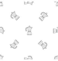 coffee pot pattern seamless vector image