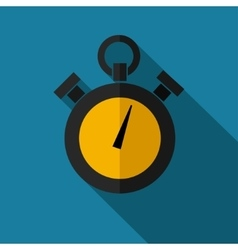 color flat stopwatch icon vector image