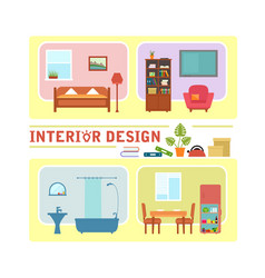 concept interior design vector image