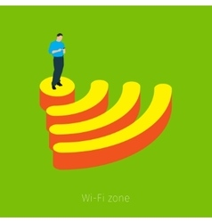Concept of Wifi zone vector image