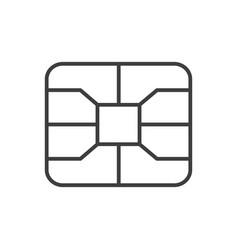 Credit card emv chip symbol digital nfc payment vector