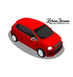 design of city car looking from up vector image