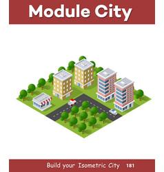 District city vector