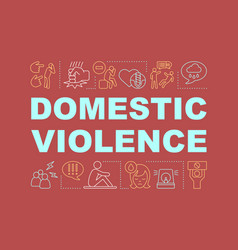 Domestic violence word concepts banner vector