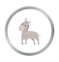Donkey icon cartoon Singe animal icon from the vector