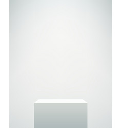Empty white pedestal vector