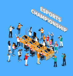 Esports championship isometric composition vector