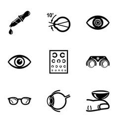 Explore vision icons set simple style vector