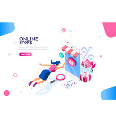 Fashion store template for website vector