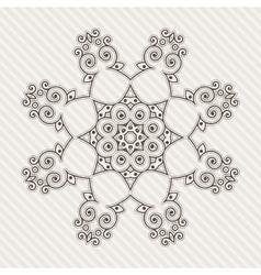 Filigree flower henna pattern vector