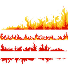 Fire banner fame backgrounds vector