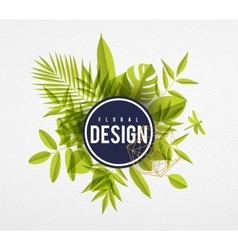 Frame floral lime vector image