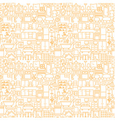furniture line seamless pattern vector image