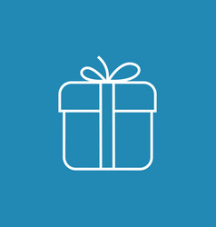 Gift box icon with bow vector