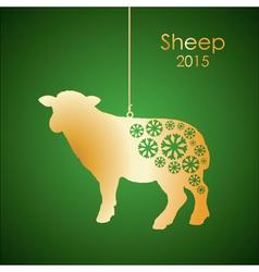 Gold sheep vector image
