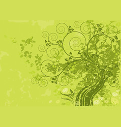 green nature vector image
