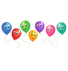 group of cartoon balloons 3 vector image