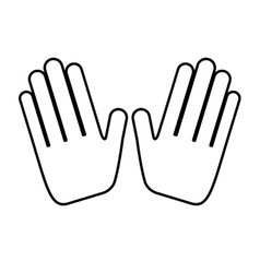 hands human made icon vector image