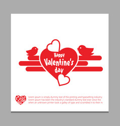 happy valentine day love background 14th february vector image
