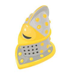 Helmet knight icon isometric 3d style vector
