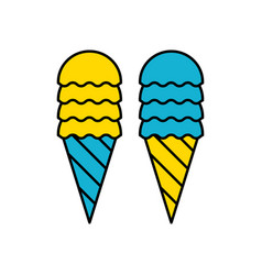 ice cream cone icon isolated modern sweet vanilla vector image