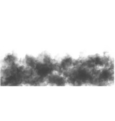 Isolated halftone black fog mist or smoke overlay vector
