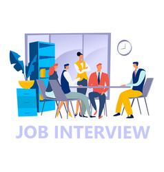 Job interview concept freelance male female vector