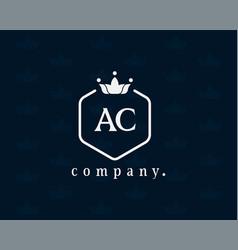 Letter ac luxury crown logo vector