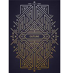 luxury antique art deco geometric linear vector image