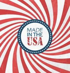 Made In USA vector image