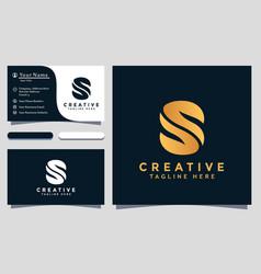 Modern creative s logo design and template s ss vector