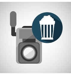 movie video camera pop corn vector image