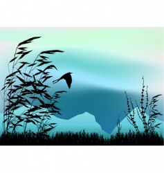 nature scene vector image