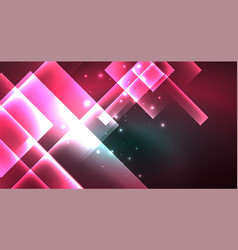 neon geometric abstract background in hipster vector image