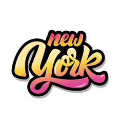 new york lettering phrase isolated on white vector image