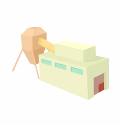 Plant storage for liquid icon cartoon style vector image