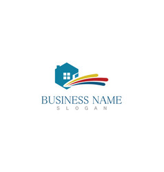 polygon home business logo vector image