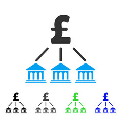 pound bank organization flat icon vector image