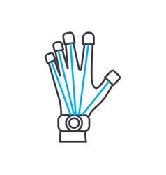 prosthetics technology linear icon concept vector image
