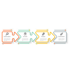 puzzle arrows business process diagram infographic vector image