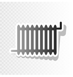 Radiator sign new year blackish icon on vector