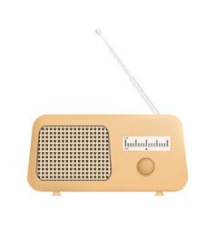 Radio icon realistic style vector