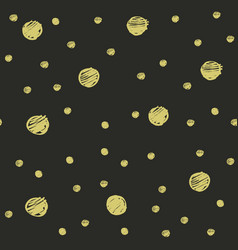 random golden dots seamless pattern vector image