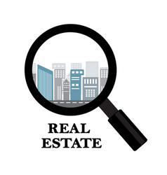 real estate and rental of buildings vector image