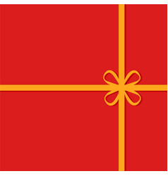 red gift box with golden ribbon vector image