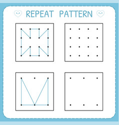 repeat pattern working pages for children vector image