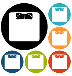 scale icon vector image
