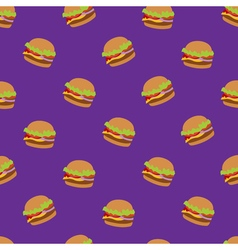 Seamless pattern with flat style burger image on vector