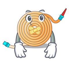 Silent the water hose mascot vector